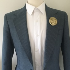 Bigger the lapel the bigger more bold the lapel pin can be (Lapel Pin by Natty Neckware)