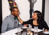 Black Couple out to dinner